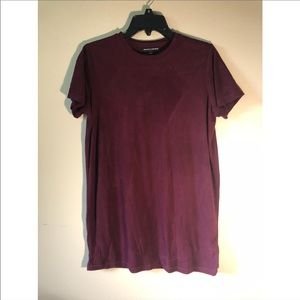 NWOT Brandy Melville Suede T-shirt Dress One Size